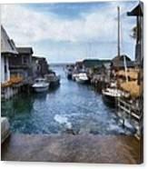 Fishtown Leland Michigan Canvas Print