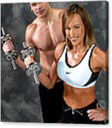 Fitness Couple 17-2 Canvas Print