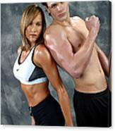 Fitness Couple 43 Canvas Print
