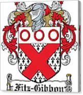 Fitzgibbon Coat Of Arms Irish Canvas Print