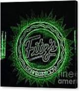 Fitz's In Green Neon  Canvas Print
