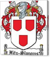 Fitzsimons Coat Of Arms Irish Canvas Print
