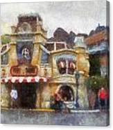 Five And Dime Disneyland Toontown Photo Art 02 Canvas Print