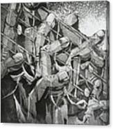 Five Dancers Canvas Print