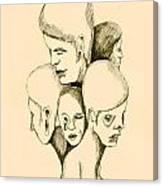 Five Headed Figure Canvas Print