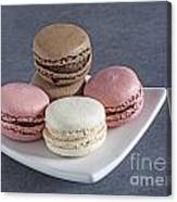 Five Macaroons Canvas Print