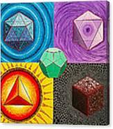 Five Platonic Solids - Fire Canvas Print
