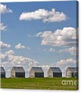 Five Sheds On The Alberta Prairie Canvas Print