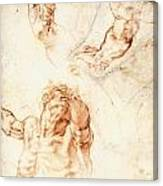 Five Studies For The Figure Of Haman Canvas Print