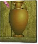 Five Vases One Flower  Canvas Print