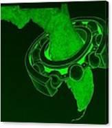 Fla Sprocket Green Canvas Print