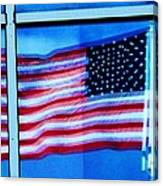 Flag Abstract Reflection Canvas Print