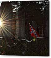 Flag And Stone Canvas Print