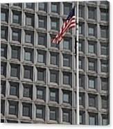 Flag And Windows Canvas Print