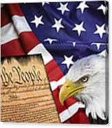 Flag Constitution Eagle Canvas Print