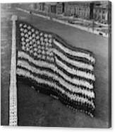 Flag Formation, C1917 Canvas Print