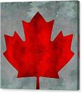Flag Of Canada Canvas Print