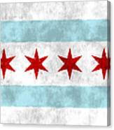 Flag Of Chicago Canvas Print