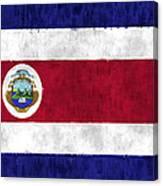 Flag Of Costa Rica Canvas Print
