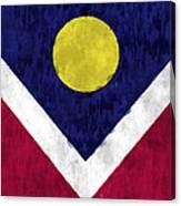 Flag Of Denver Canvas Print