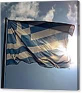 Flag Of Greece Canvas Print