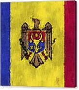 Flag Of Moldavia Canvas Print