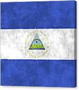 Flag Of Nicaragua Canvas Print