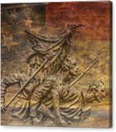 Flag Of Our Confederate Fathers Canvas Print
