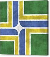 Flag Of Portland Canvas Print