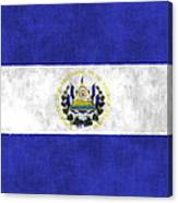 Flag Of Salvador Canvas Print