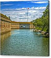 Flag Over The Moat Canvas Print