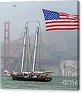 Flag Ship Canvas Print