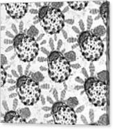 Flagellar Membranes Of Moth Sperm, Tem Canvas Print
