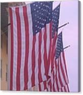 Flags At Cape May Nj Canvas Print
