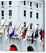 Flags At The Greenbrier Canvas Print