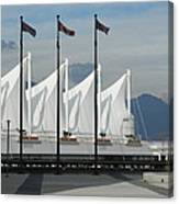 Flags At The Sails  Canvas Print