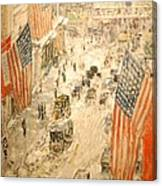 Flags On 57th Street Canvas Print