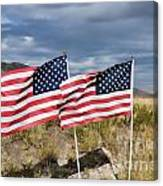 Flags On Antelope Island Canvas Print
