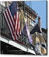 Flags On Bourbon Street Canvas Print