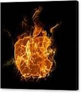 Flame Apple Canvas Print