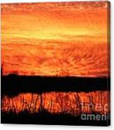Flamed Sunset Canvas Print