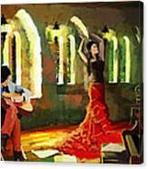 Flamenco Dancer 017 Canvas Print