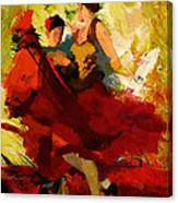 Flamenco Dancer 019 Canvas Print