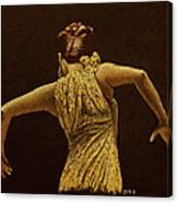 Flamenco Dancer In Yellow Dress Canvas Print