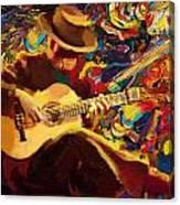 Flamenco Guitarist Canvas Print