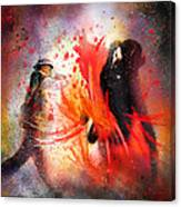 Flamencoscape 07 Canvas Print