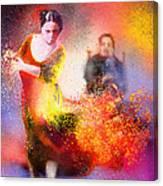 Flamencoscape 11 Canvas Print