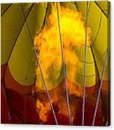 Flames Heating Up Hot Air Balloon Canvas Print