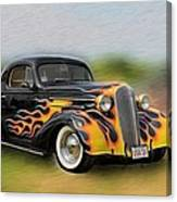 Flames On Wheels Canvas Print