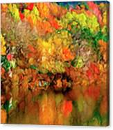 Flaming Autumn Abstract Canvas Print